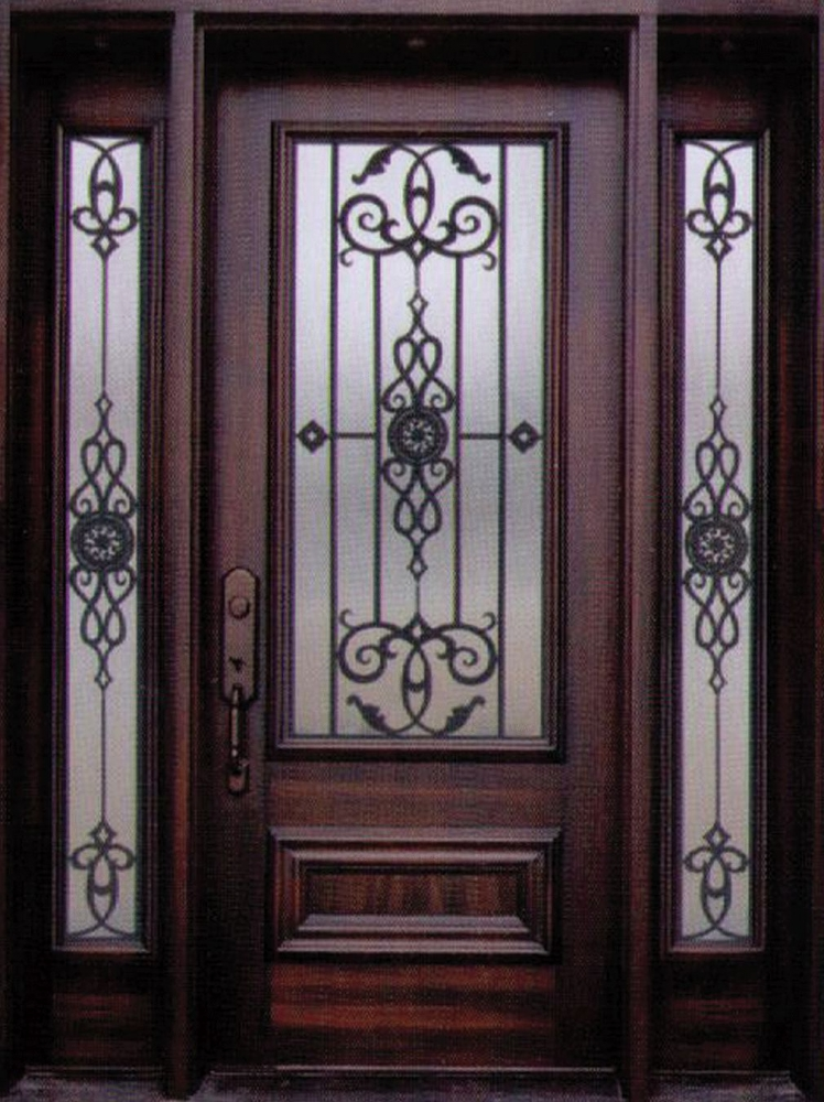 Decorative Steel Doors : Decorative wrought iron front doors inserts toronto