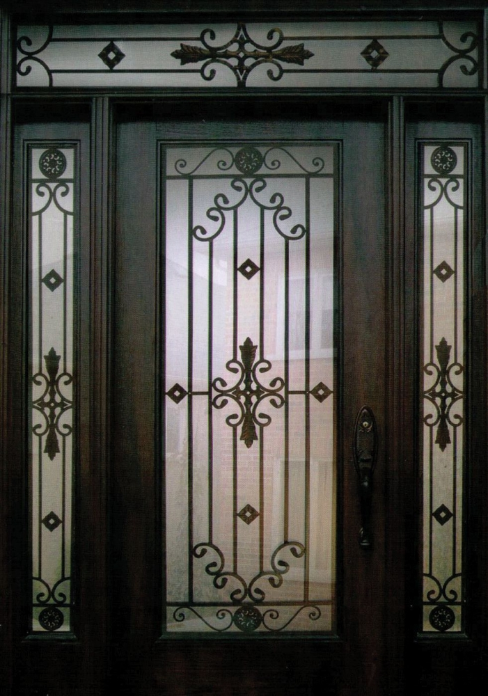 Decorative Steel Front Entry Doors : Decorative wrought iron front doors inserts toronto