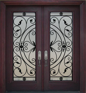 Decorative Wrought Iron Front Doors Inserts Toronto